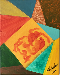 Crab acrylic on canvas 10x8 20190705