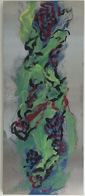 Stately Lady acrylic on laminated board 30x12.5
