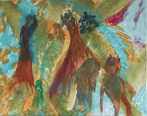 Fox Among Hens acrylic on canvas 16x20 20171213