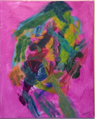 Big Hug acrylic on canvas 30x24 20200413