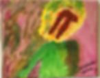 Ear Piece acrylic on canvas 8x10 2019072