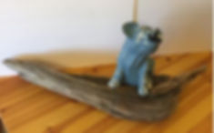 OINK driftwood pig with oral surgery-1 14x34x12 14