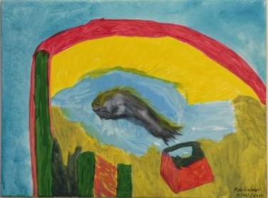 Kreel Escape acrylic on canvas 18x24 20201209
