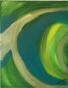 Ocular acrylic on canvas 14x11 20190815
