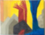 Reaching acrylic on canvas 8x10 20190905