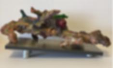 The Last Longwort back driftwood clay acrylic 7x21x9 20200121