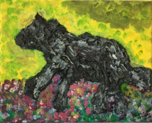 Wolfy the Alpha acrylic and gel Wolfy the Alpha acrylic and gel on canvas 8x10 20200111on canva