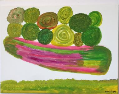 Cucumber Roll acrylic on canvas 18x24 20200629