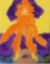 Riding the Cheerio acrylic on canvas 10x8 20200202