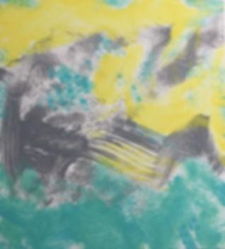 Yellow Sky acrylic on laminated board 20x18