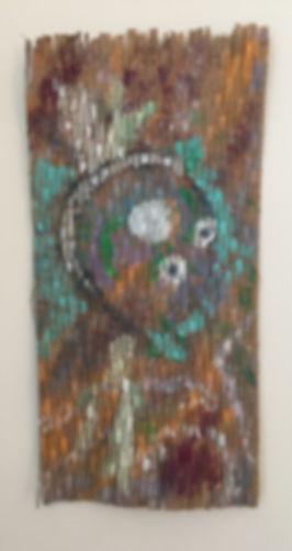 Princess acrylic on slitted cardboard 26x13