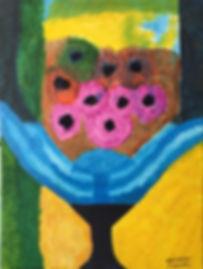 FountainBlue acrylic on canvas 24x18 20200703