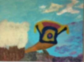 Owl Watcher acrylic on canvas 22x30 20200608