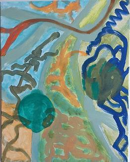 Primordial Love acrylic on canvas 20x16 20170916