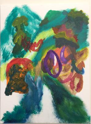 Strutting acrylic on canvas 24x18 20201202