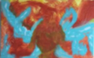 Girty Gaia acrylic on laminated board 14x22