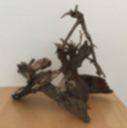 Picnic sculpture found objects view 2