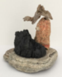 Charwatch sculpture found objects view 1 9x9x9