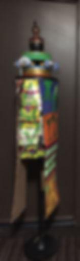 Urhowata Sentinel mixed media-2 72x12x13