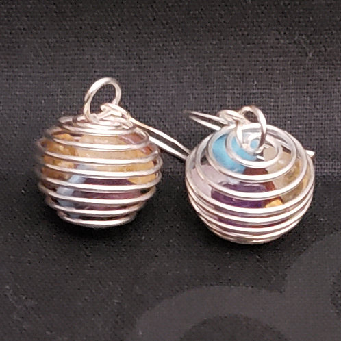 Small Chakra Caged Earrings