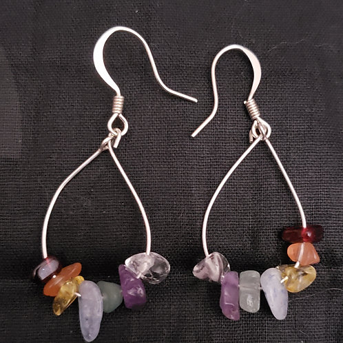 Rainbow Teardrop Chakra Earrings
