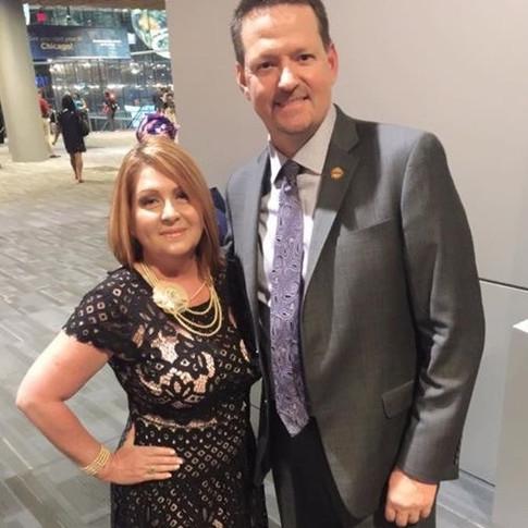 Martina Martinez and CEO Rex