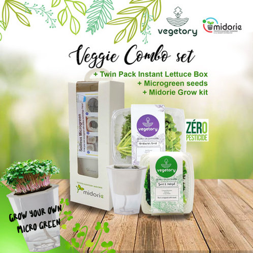 Veggie & Grow Kit Combo Set