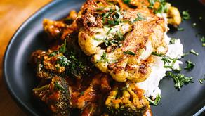 Cauliflower Steak Masala W/ Rice