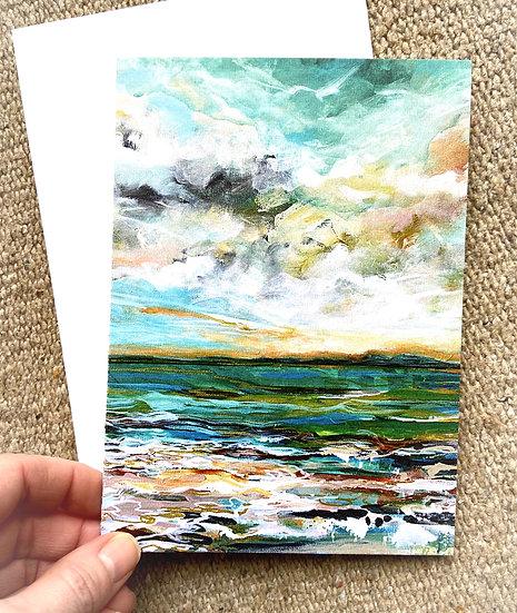 Gold Glow Greeting Card 2pk