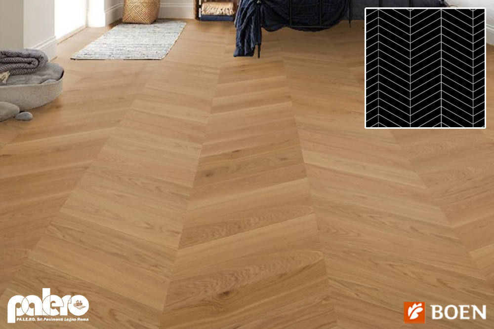 parquet in rovere a spina ungherese