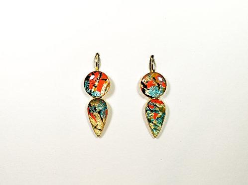 "Circle Lagrima earrings ""Unique Nr6"""