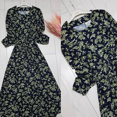 Kışlık Dokuma Likralı Pamuklu Viskon elbise