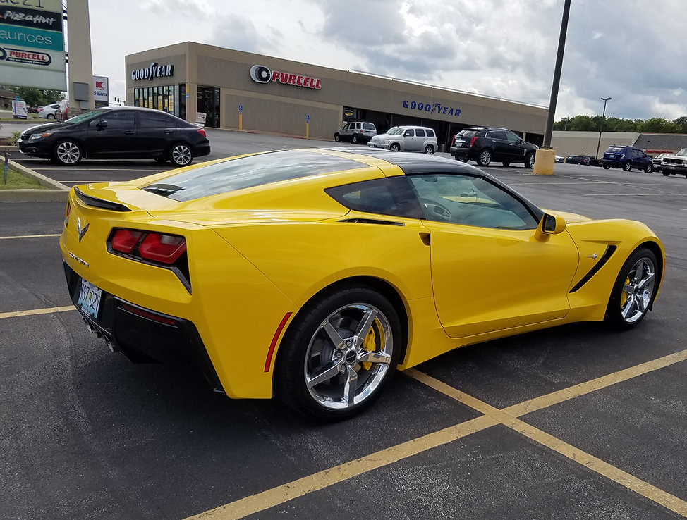 Frand and Cecilia Mancuso Yellow C7 Coup
