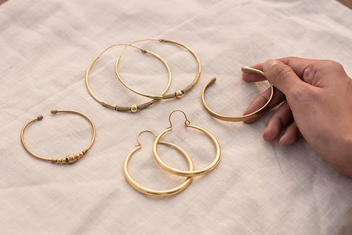 Brass Jewelry set of Four