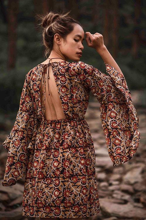 Afiya Dress with Hand Block Print