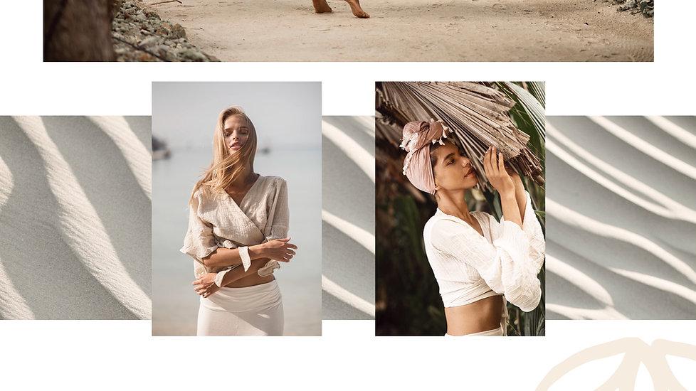 dendilion top in linen worn by beautiful women