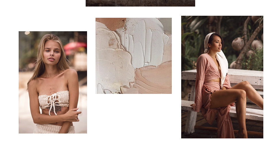 beautiful girls pwearing sustainable fashion clothes made of natural materials