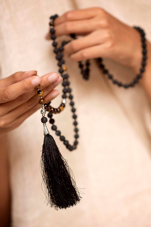 Handmade Tiger's Eye Mala with 108 beads