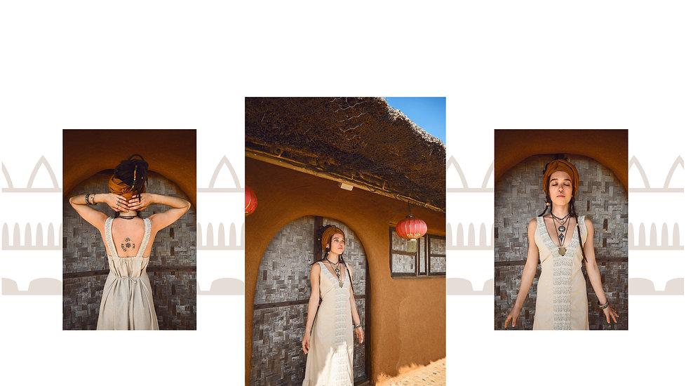 Ra dress in beige different views