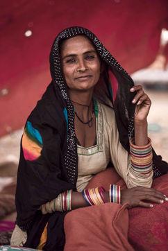 colorful rajasthani kalbelya woman