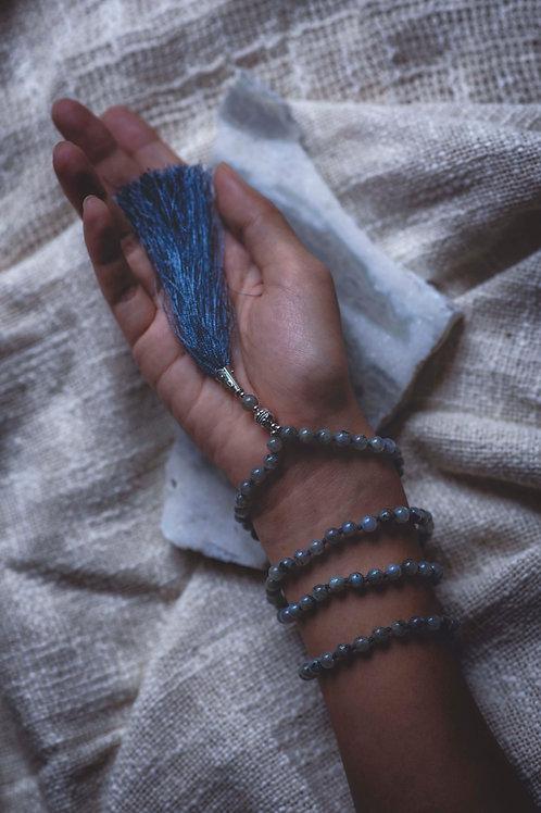 Handmade Labradorite Prayer Mala with 108 beads