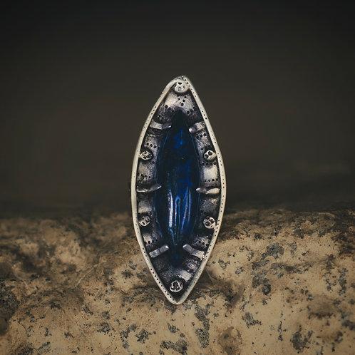 Varuna Silver Ring with Lapis Lazuli