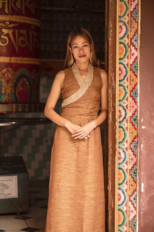 Tibetan inspired traditional maxi dress