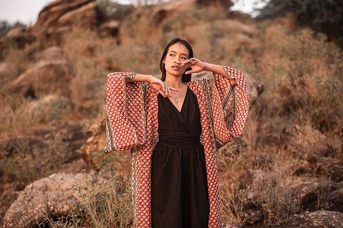 Cotton Hand Block Print Pattern Four Unisex Aren Kimono
