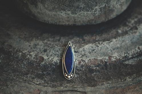 Varuna Silver Pendant with Lapis Lazuli