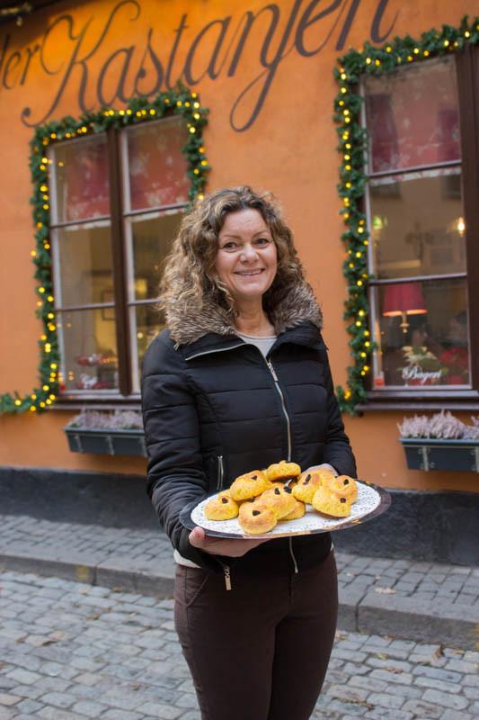 Glutenfria lussebullar på Under Kastanjen i Stockholm