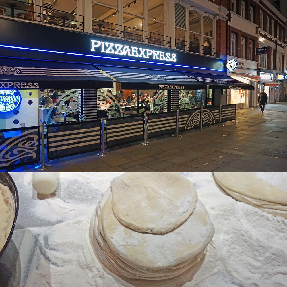 Glutenfritt pizza i London - Pizzaexpress