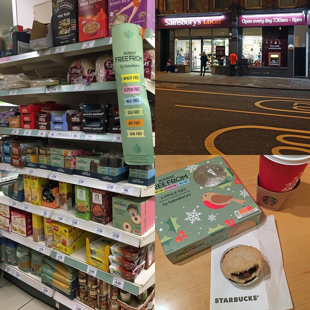 Glutenfritt i London - Sainsburys