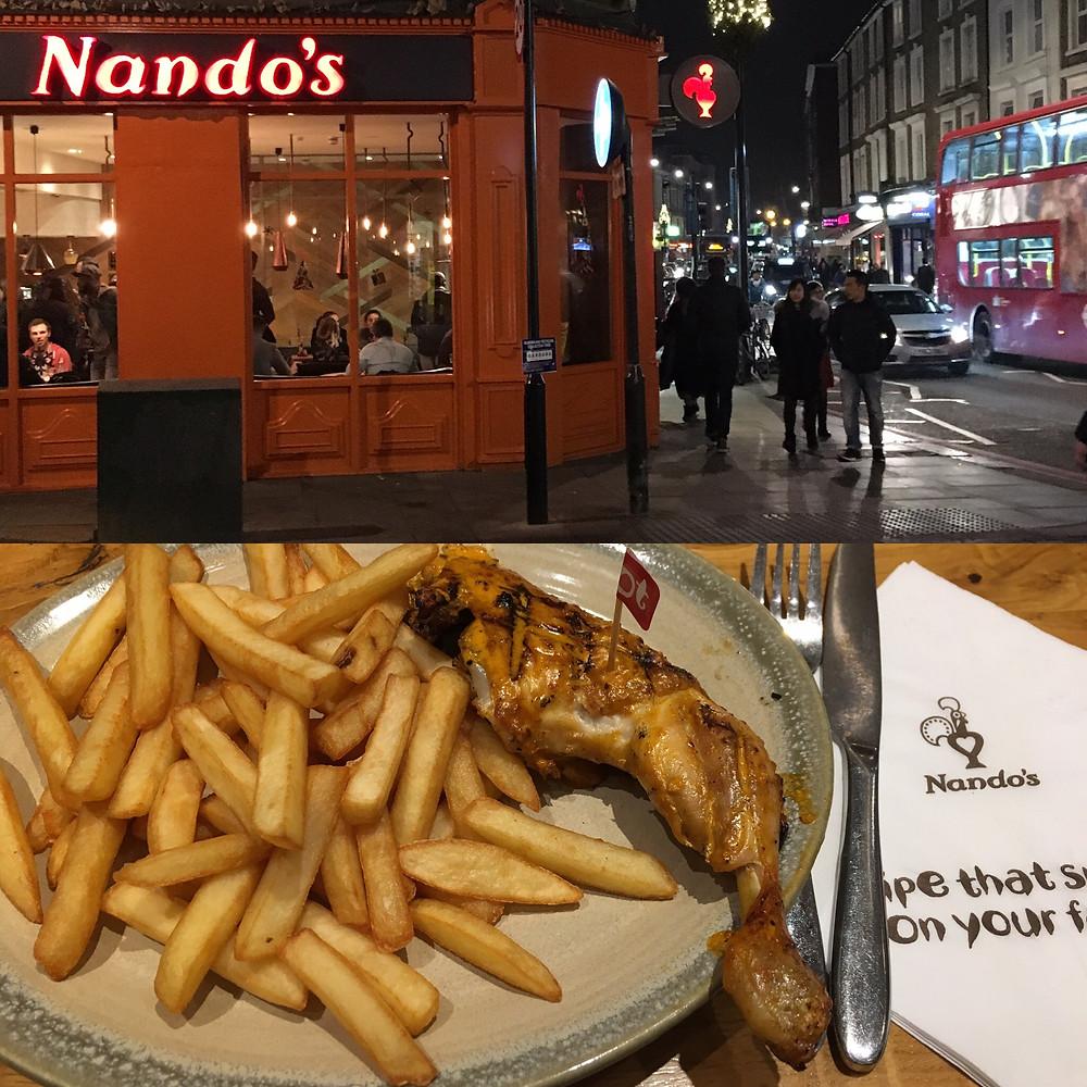 Glutenfritt i London - Nando's
