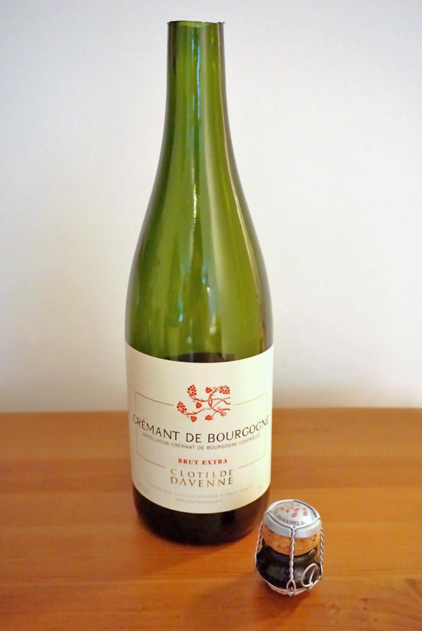 Sabrerad champagneflaska